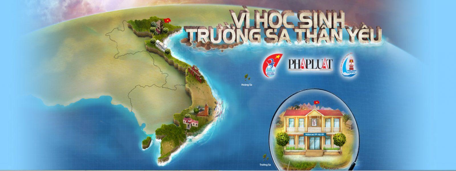 Vi hoc sinh Truong Sa than yeu